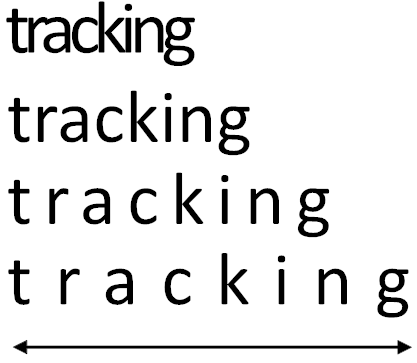 Text Tracking