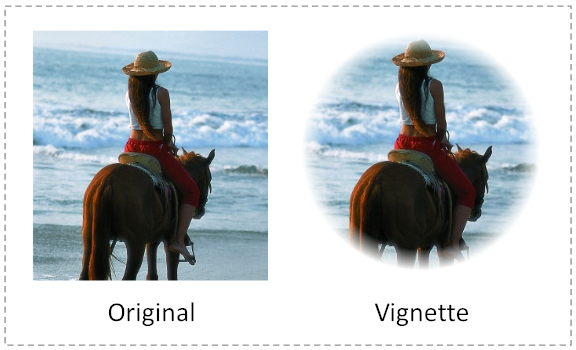 Vignette Effects using the Mask Editor